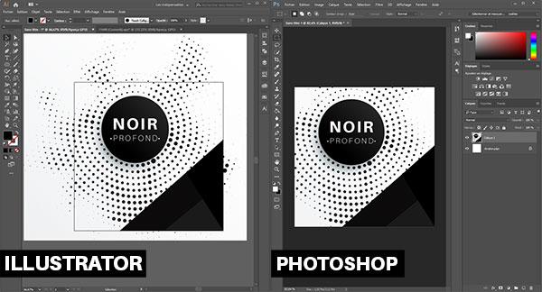 Noir profond sur Illustrator ou Photoshop