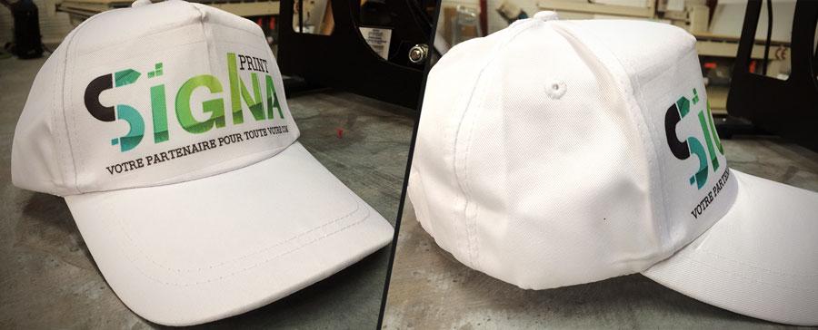 Personnaliser casquette blanche imprimer