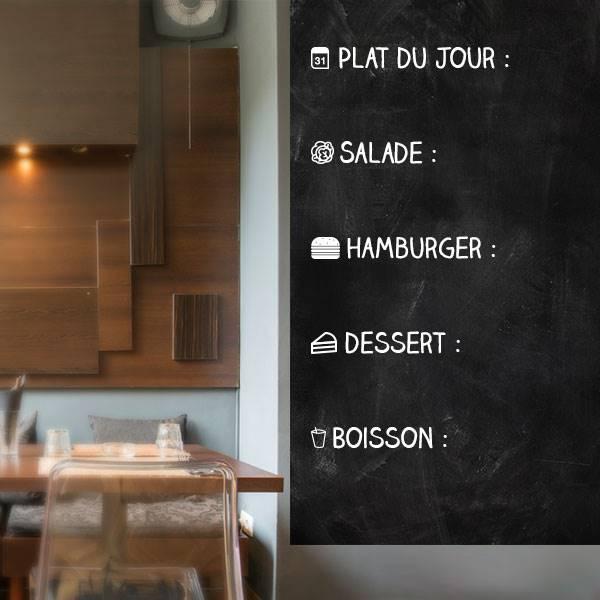 Adhésif ardoise menu restaurant