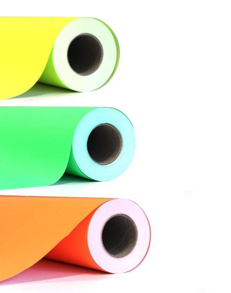 impression papier fluo personnalise monochrome