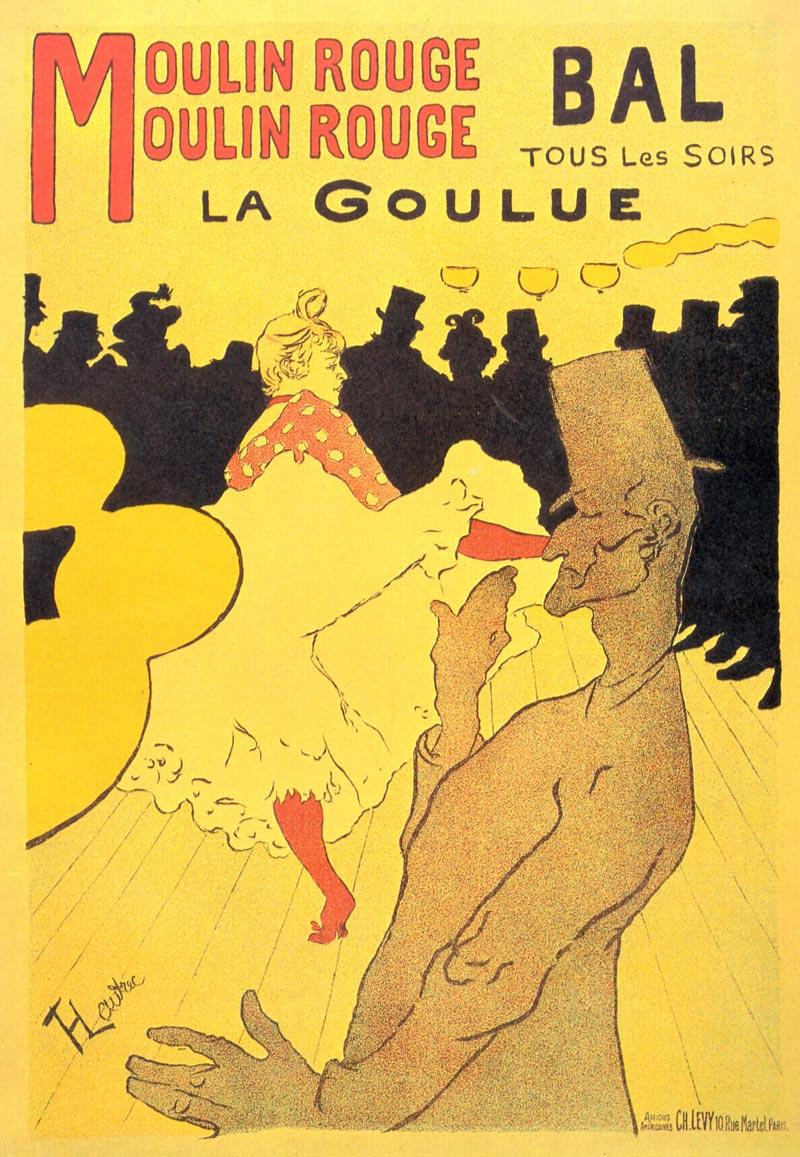 Henri de Toulouse-Lautrec la goulue affiche publicitaire