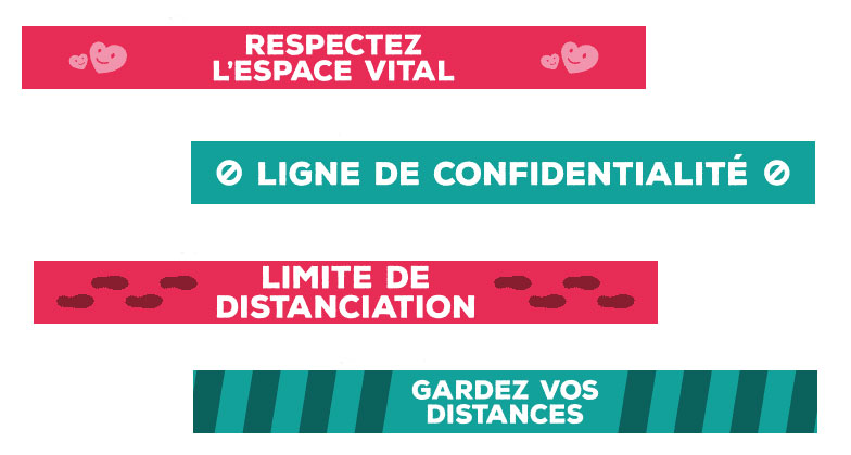 ligne de confidentialité sticker sol