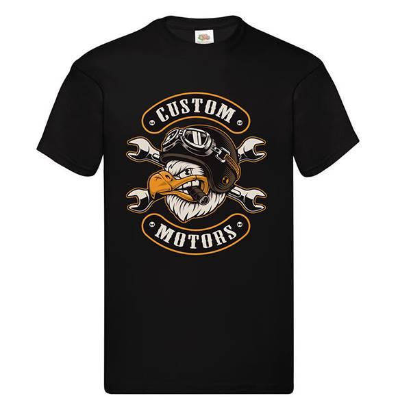 tee shirt personnalise homme manches courtes-noir-custom-motors