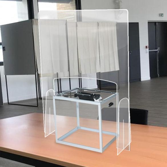 hygiaphone plexiglas pour urne de vote sur table