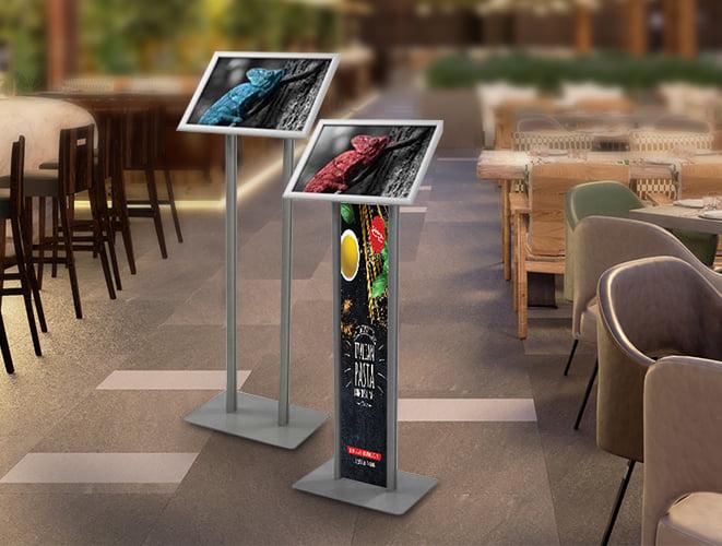 Porte menu restaurant avec plexiglas ou vitre sécurisée